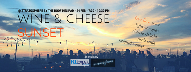 OK Helipad Sunset Wine and cheese @ The Roof Event Cover
