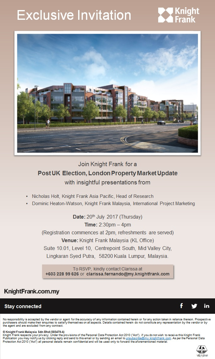 eInvite - 20 july (Post UK election london property market update) R2