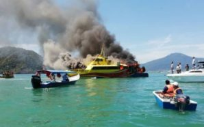 Dozens of passengers rescued after Langkawi ferry goes up in…