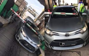 Twitter users wonder how Malaysian car got stuck at toll…