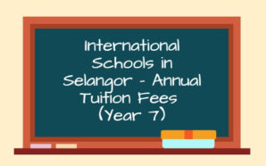 International Schools in Selangor – Annual Tuition Fees (Year 7)